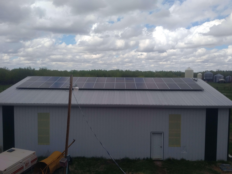 10.7 KW solar array Camrose County pic 1