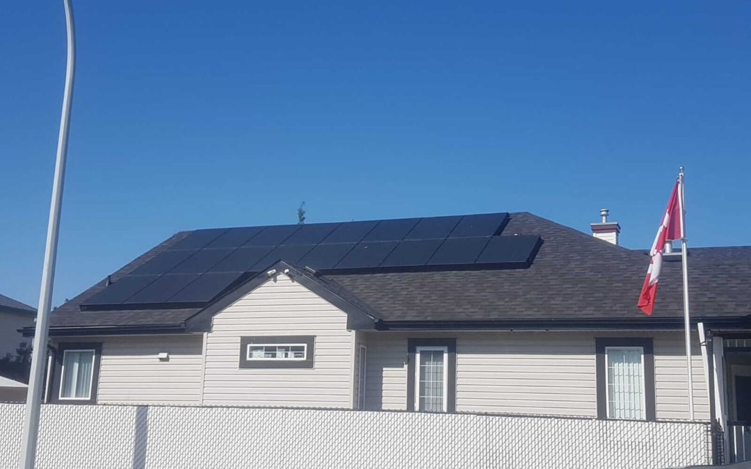 10.8 kW Array, Edmonton, Alberta