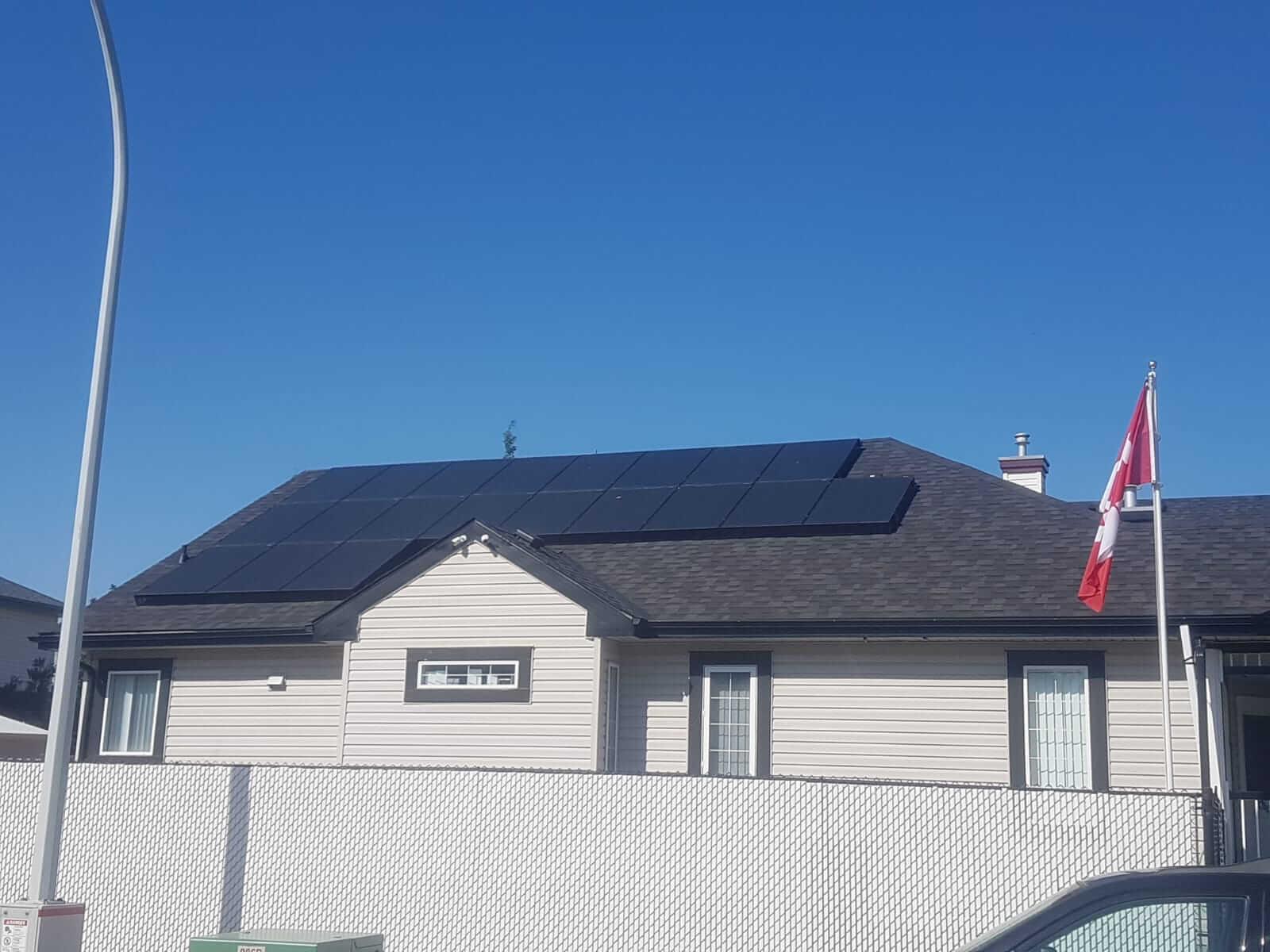 10.8 kw solar array Edmonton Alberta