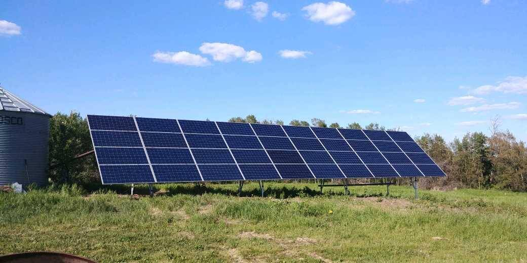 13 kw solar Array Wetaskiwin county