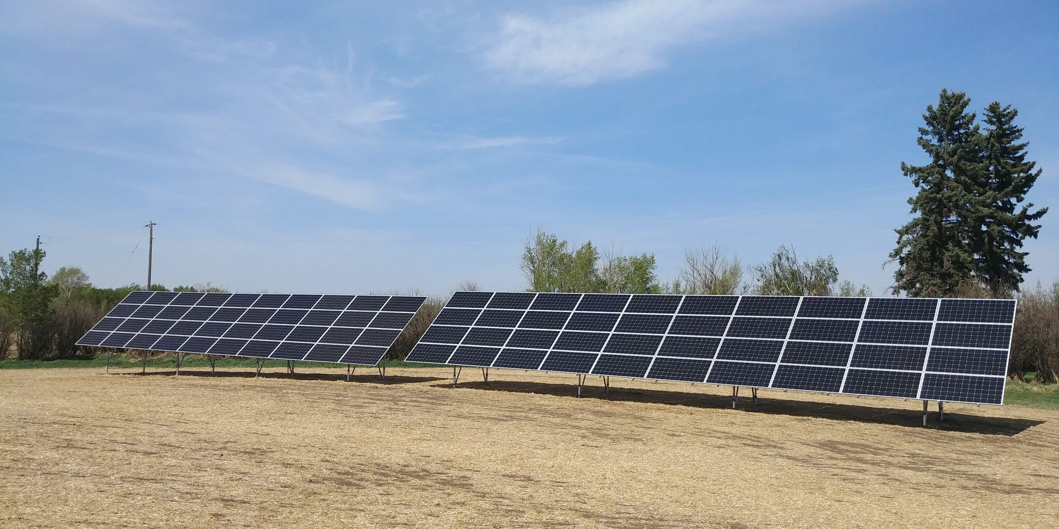 25.6 kw solar array Flagstaff county Killiam Alberta