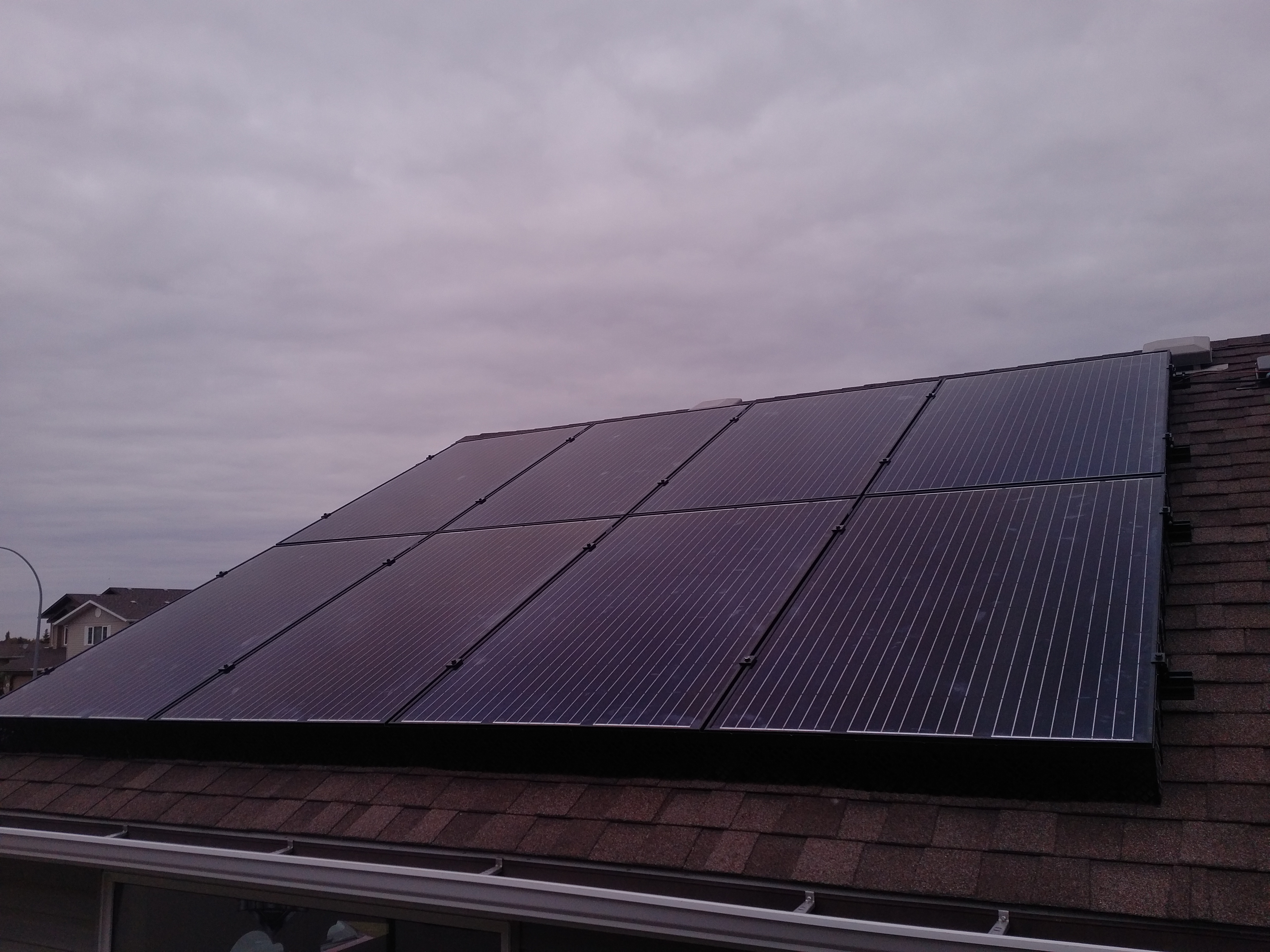 4.3 kW solar array Camrose