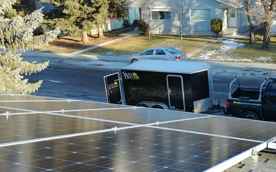 5.6 kW Array, Edmonton, Alberta