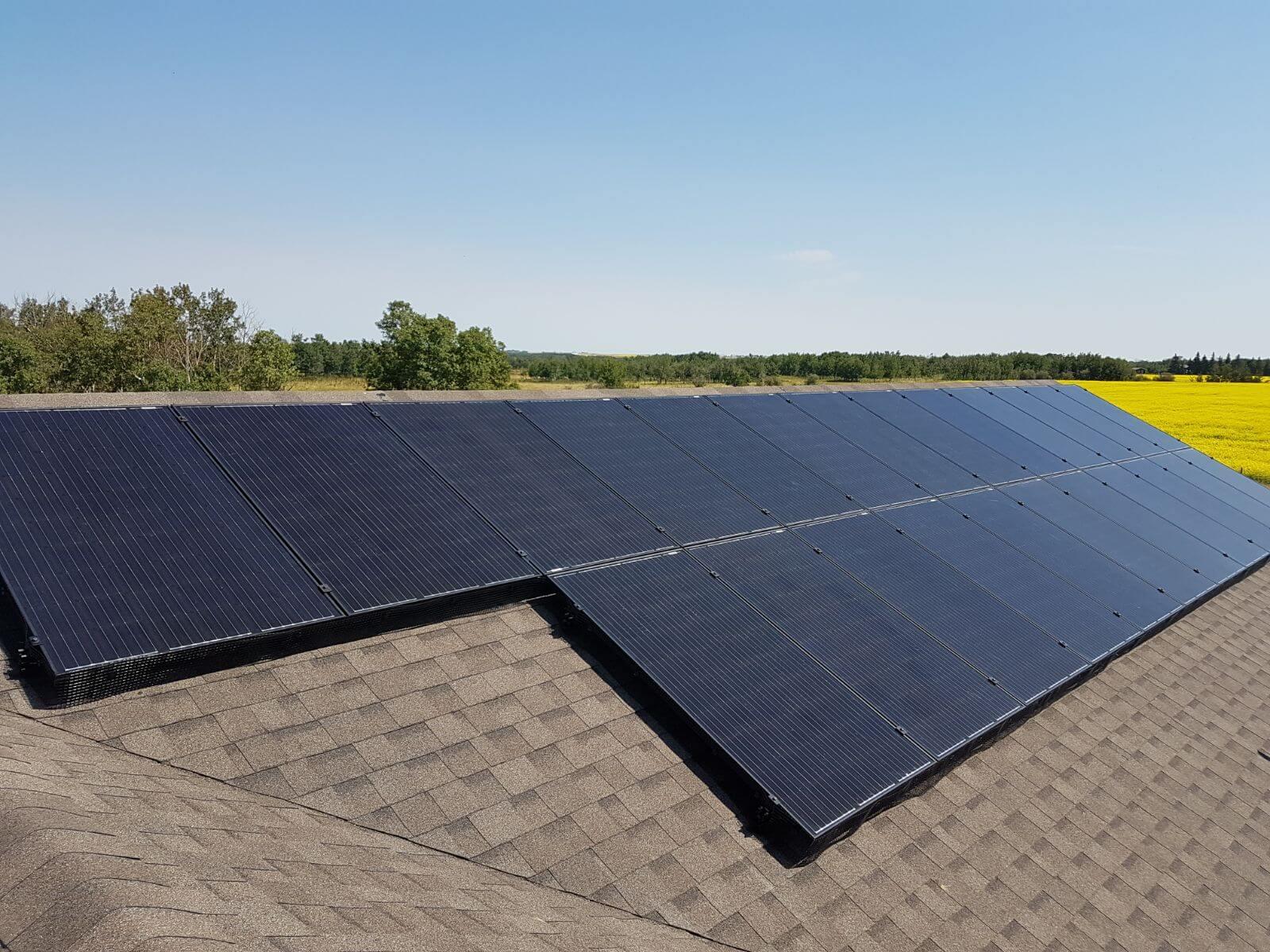 6.4 kw solar array camrose county pic 3