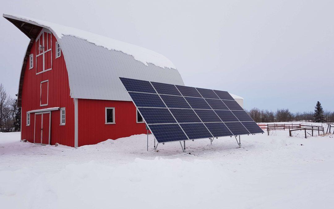 6.5 kW Array, Holden, Alberta