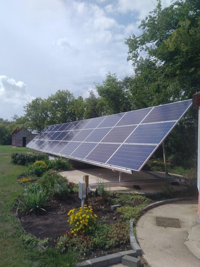 9.6 KW solar array Camrose County