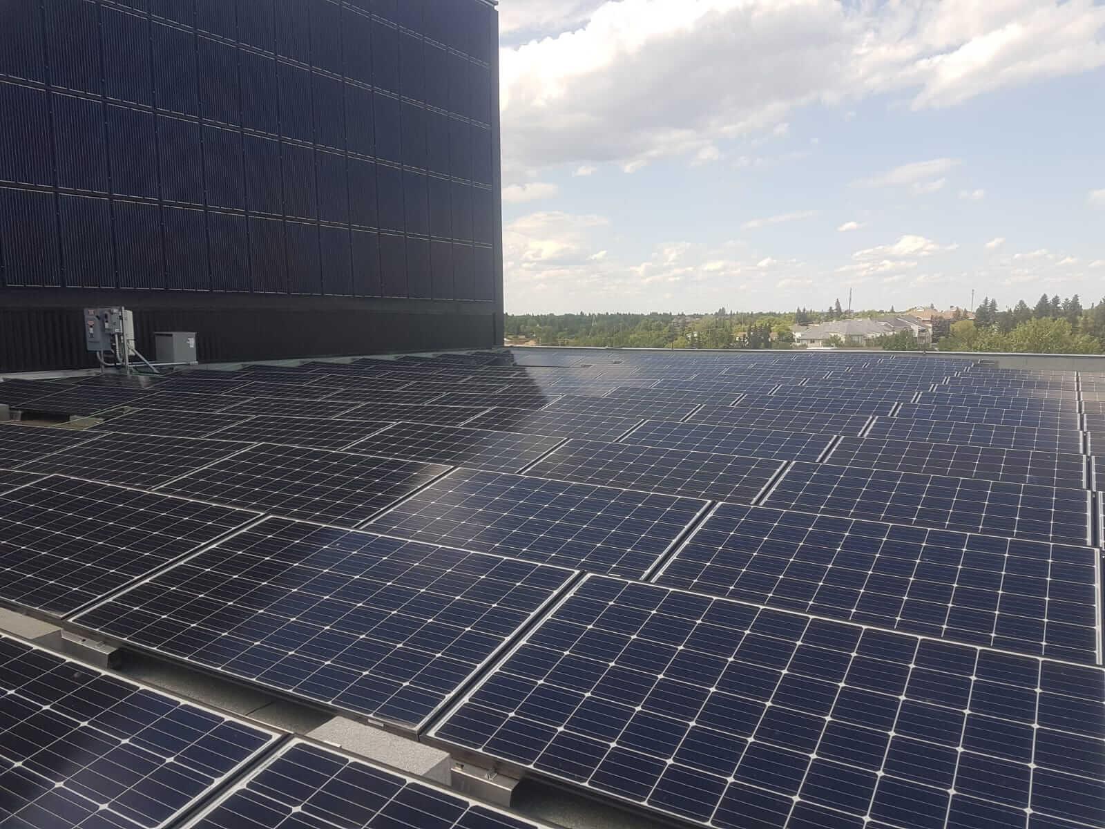 alberta commercial solar installation
