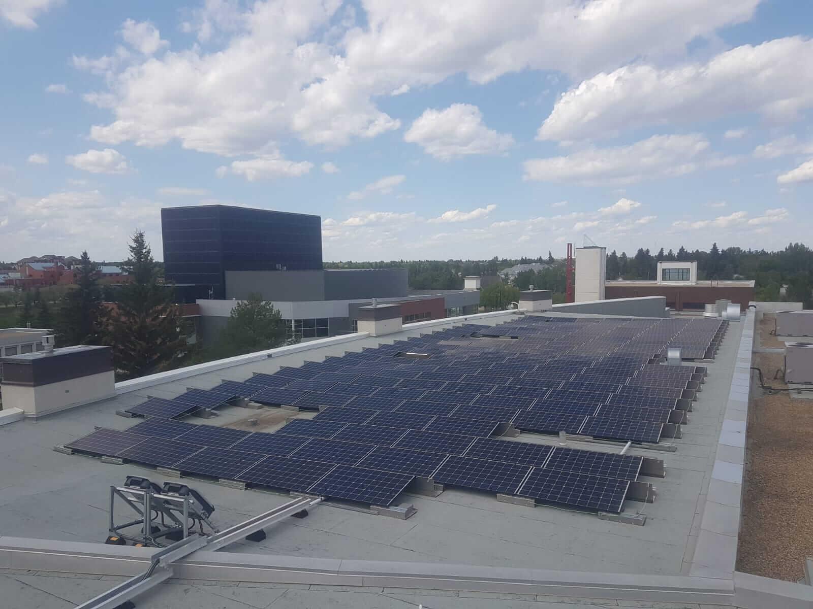 U of A Aug solar panels camrose