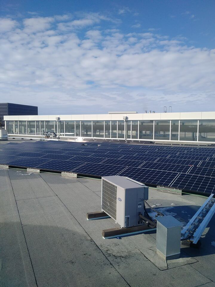 U of A, Augustana campus, Library solar panels 1